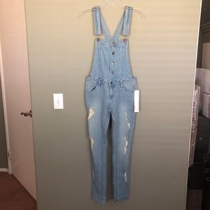 Denim - Tinseltown Distressed Denim Overalls